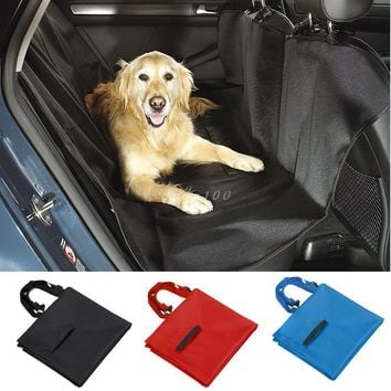 Pet Dog Car Seat Cover for Rear Bench Seat Waterproof Hammock Style Outdoor Car Seat Cover for Dogs