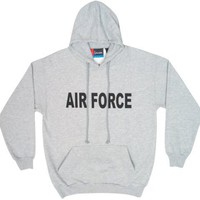AIR FORCE - Hoodie Pullover Sweatshirt, Heather Grey, X-Large