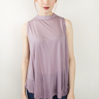 Mock Neck Loose Tank