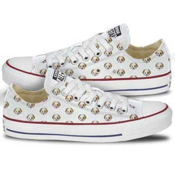 DCKL9 Dog Emoji Converse Chuck Low Tops