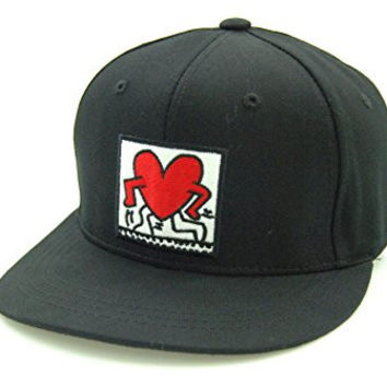 Muan Keith Haring Art Snapback Hat People Heart (2. Walking)
