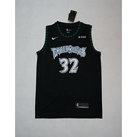Minnesota Timberwolves #32 Karl-Anthony Towns Black Basketball Jersey