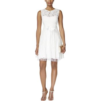 B&A by Betsy and Adam Womens Lace Sleeveless Casual Dress