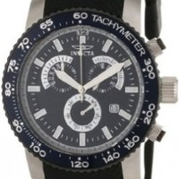 Invicta Men's 11292 Specialty Chronograph Navy Blue Textured Dial Black Polyurethane Watch