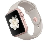 Apple Watch Sport - 42mm Rose Gold Aluminum Case with Stone Sport Band