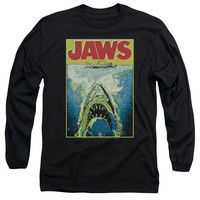 Jaws - Bright Jaws Long Sleeve Adult 18/1 Officially Licensed Shirt