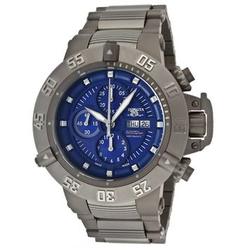 Invicta 11051 Men's Subaqua Noma III Blue Dial Steel & Titanium Bracelet Chronograph Automatic Dive Watch