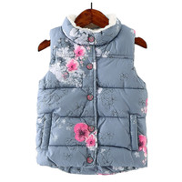 Floral Baby Girls Waistcoat Thick