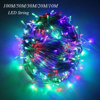 LED string Fairy light holiday Patio Wedding decoration   Waterproof outdoor light garland