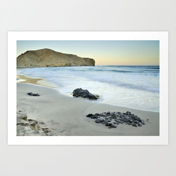Black volcanic rocks Art Print by Guido Montañés