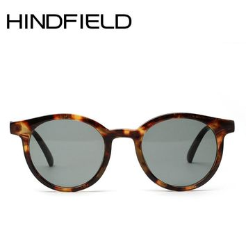 Hindfield Small Round Sunglasses Women Translucent frame Sun glasses Male Vintage Classic Eyeglasses O448