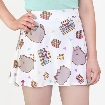 Dance Party Pusheen ladies junior skater skirt