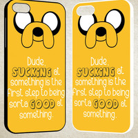 adventure time jake the dog quotes F0769 iPhone 4S 5S 5C 6 6Plus, iPod 4 5, LG G2 G3, Sony Z2 Case