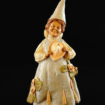 "Vintage, Tom Clark, Retired ""Dee-Lovely"", Handcrafted, Gnome Figurine, Hand Signed, With COA, By Cairns Studio"