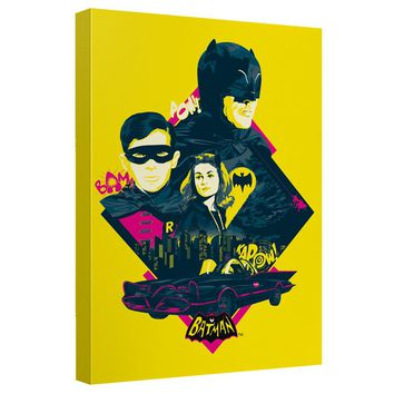 Batman Classic Tv - Heroes And Villains Canvas Wall Art With Back Board