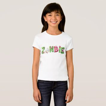 Zombie Girls' Bella+Canvas Fitted Babydoll T-Shirt