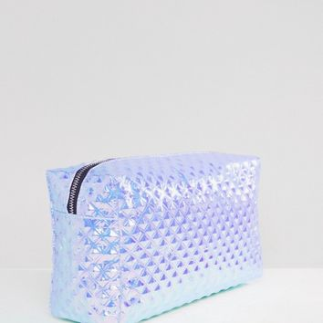 ASOS Oversized Metallic Makeup Bag at asos.com