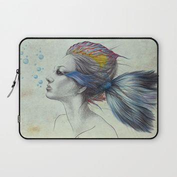 When I was a fish | textured Laptop Sleeve by EDrawings38