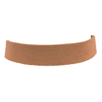 Wall Street Suede Choker In Tan