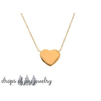 Modern Heart Diffuser Necklace - Rose Gold