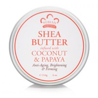 100% organic shea butter infused with coconut & papaya