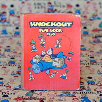 Knockout Fun Book 1950 Vintage Childrens Story Book Picture Book Comic Book