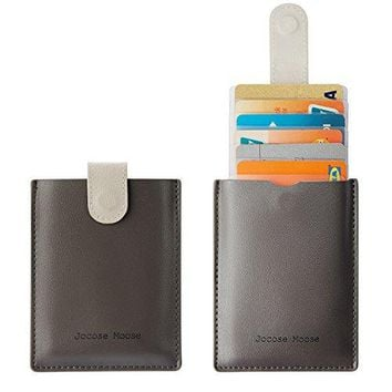RFID Minimalist Slim Leather Wallets  Credit Card Holder Wallet for Men Women