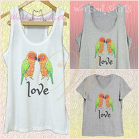 Parrot lovers shirt white tank/grey dress/ v neck shirts size XS S M L XL quote shirt /racer back tanks/ sleeveless tank