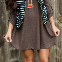 Keepin' it Casual Sweater Dress - Brown