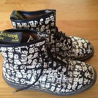 DOC Marten Andy Warhol Vintage Op Art Limited Edition Boots Sz 7 Womens