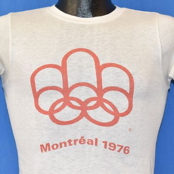 70s Montreal 1976 Summer Olympics t-shirt Extra Small