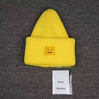 Acne Studios Auckie 8-color smile hat  F  Yellow