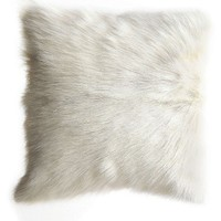 Creative Co-Op Genuine Goat Hair Accent Pillow | Nordstrom