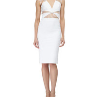 Cushnie et Ochs Strappy Cutout Sheath Dress, White