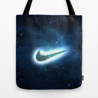 nike-galaxy Tote Bag by Max Jones | Society6