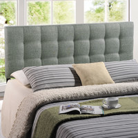 Lily Full Fabric Headboard in Gray