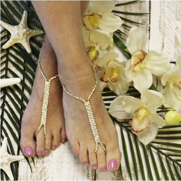 GLAMOROUS barefoot sandals - gold
