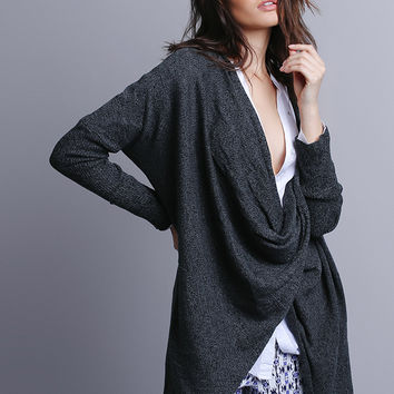 Give Your All Draped Sweater