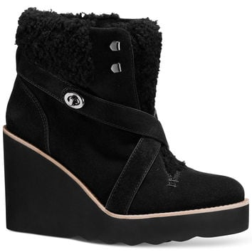 COACH Kenna Cold Weather Wedge Booties
