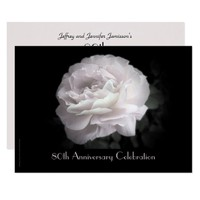 80th Anniversary Party Invitation Pale Pink Rose