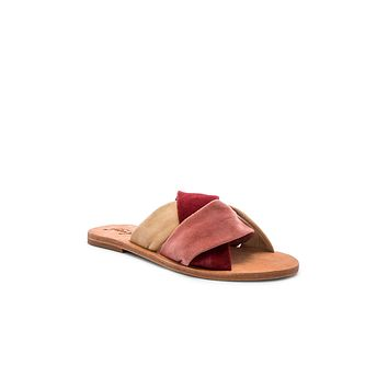 Free People Rio Vista Slide Sandals Rose