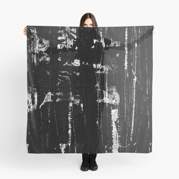 'Painted Grunge - Black and White' Scarf by Bruce Stanfield