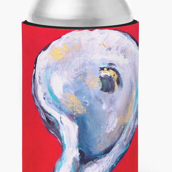 Oyster Wiggle My Shell Can or Bottle Beverage Insulator Hugger