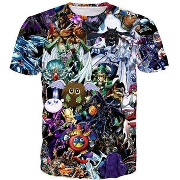 Cute Anime t shirt YuGiOh Monster Tee Shirt Men Women 3D print Hipster t shirt Funny Duel Monsters Elf Short sleeve Harajuku tee