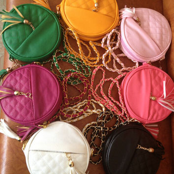 women circular small leather bag gift 11