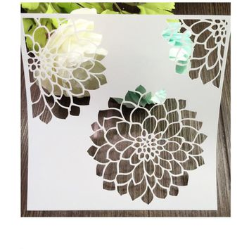 Lily Scrapbooking tool DIY album masking spray painted template drawing stencil laser cut template AP7050250