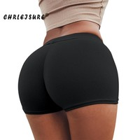 Push Up Shorts Solid Soft Workout Shorts