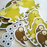 Frog life-cycle stickers - pack of 10