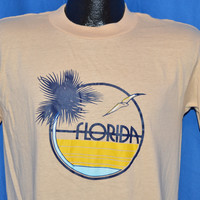 80s Florida Palm Tree Seagull Beach t-shirt Medium