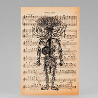 Anatomy circulatory system Greeting Card - Halloween - 4x6 on Ivory Paper  - by NATURA PICTA